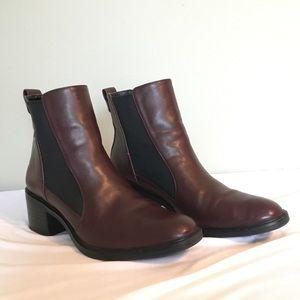 Zara Booties in maroon color